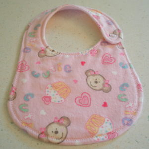 pink cupcake monkeys newborn bib